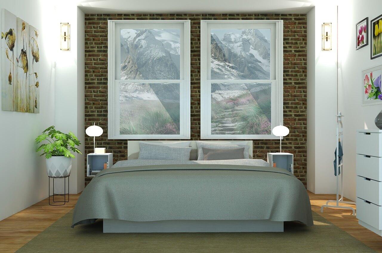 an organic mattress on a bed frame